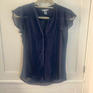 H&M chiffon blouse top Size - fits like S/M